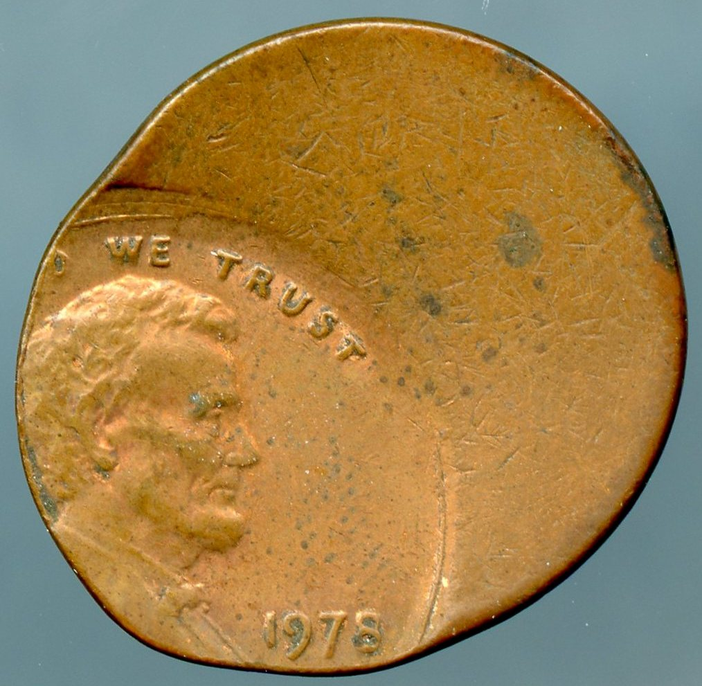 1978 Lincoln Cent Off Center 40 Xf