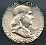 1952 Franklin Half Dollar AU-50