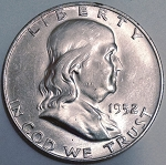 1952 D Franklin Half Dollar MS-60