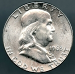 1963 Franklin Half Dollar B.U. MS-60
