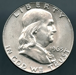 1963 D Franklin Half Dollar B.U. MS-60
