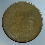 1809 Half Cent About Good