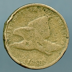 1858 Flying Eagle Cent S.L. CULL