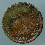 1864 L Indian Cent  CULL