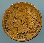 1876 Indian Cent AG