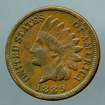 1889 Indian Cent XF 40