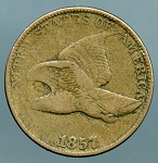 1857 Flying Eagle Cent About Good
