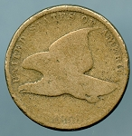 1858 S.L. Flying Eagle Cent About Good