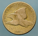 1858 L.L. Flying Eagle Cent  VG