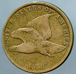 1858 S.L. Flying Eagle Cent Very Good