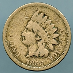 1859 Indian Cent About Good