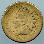 1860 Indian Cent About Good