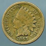 1863 Indian Cent Good