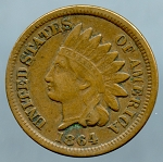 1864 Bronze Indian Cent VF-35