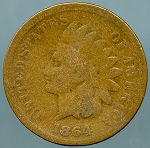 1864 L Indian Cent Good-