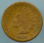 1865 Indian Cent Good