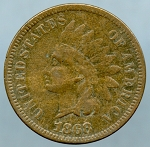 1868 Indian Cent Fine