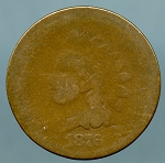 1876 Indian Cent About Good