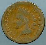 1885 Indian Cent About Good