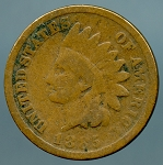 1885 Indian Cent AG minus