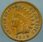 1889 Indian Cent VG