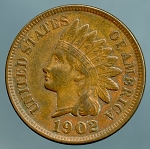 1902 Indian Cent XF-40