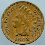 1902 Indian Cent EX-40