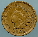 1902 Indian Cent Choice XF-45