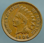 1906 Indian Cent Choice XF-45