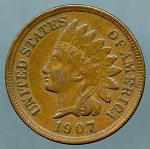 1907 Indian Cent Choice XF-45