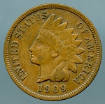 1909 Indian Cent VF-20