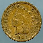 1909 Indian Cent Choice VF-35
