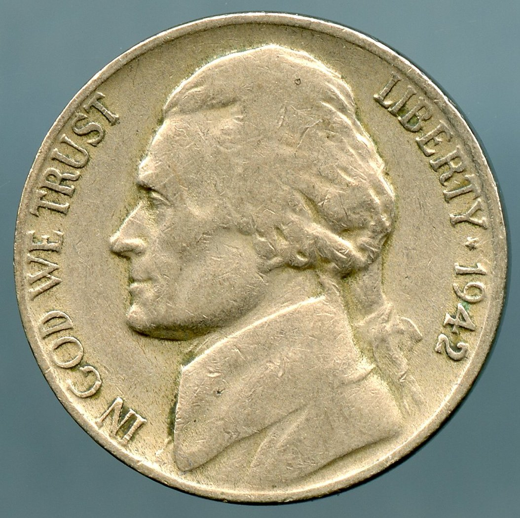 1942 D Jefferson Nickel D Over Horizontal D