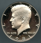 1981 S TY 2 Kennedy Half  Proof 60