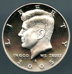 2005 S Kennedy Half Dollar Proof Silver