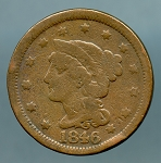 1846 Large Cent AG