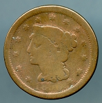 1850 Large Cent AG