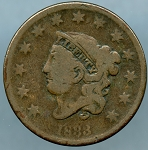 1833 Large Cent  Good
