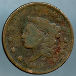 1835 Large Cent About Good Head of 1836