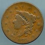 1837 Large Cent Good +