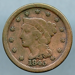 1845 Large Cent Very Good
