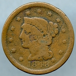 1848 Large Cent About Good