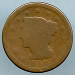 1848 Large Cent Poor