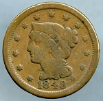 1848 Large Cent Very Good