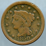 1850 Large Cent Very Good
