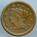 1853 Large Cent AG