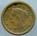 1854 Large Cent Very Good