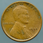 1923 S Lincoln Cent VF-20