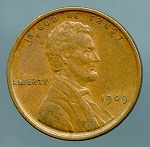 1909 Lincoln Cent XF 45