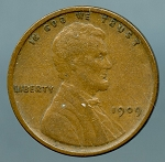 1909 V.D.B. Lincoln Cent XF 40